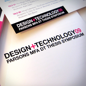 PARSONS DESIGN AND TECHNOLOGY THESIS SYMPOSIUM CATALOG